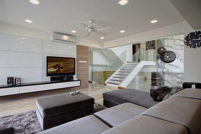 Modernes Wohnzimmer gestalten - 81 Wohnideen, Bilder, Deko und Möbel ...