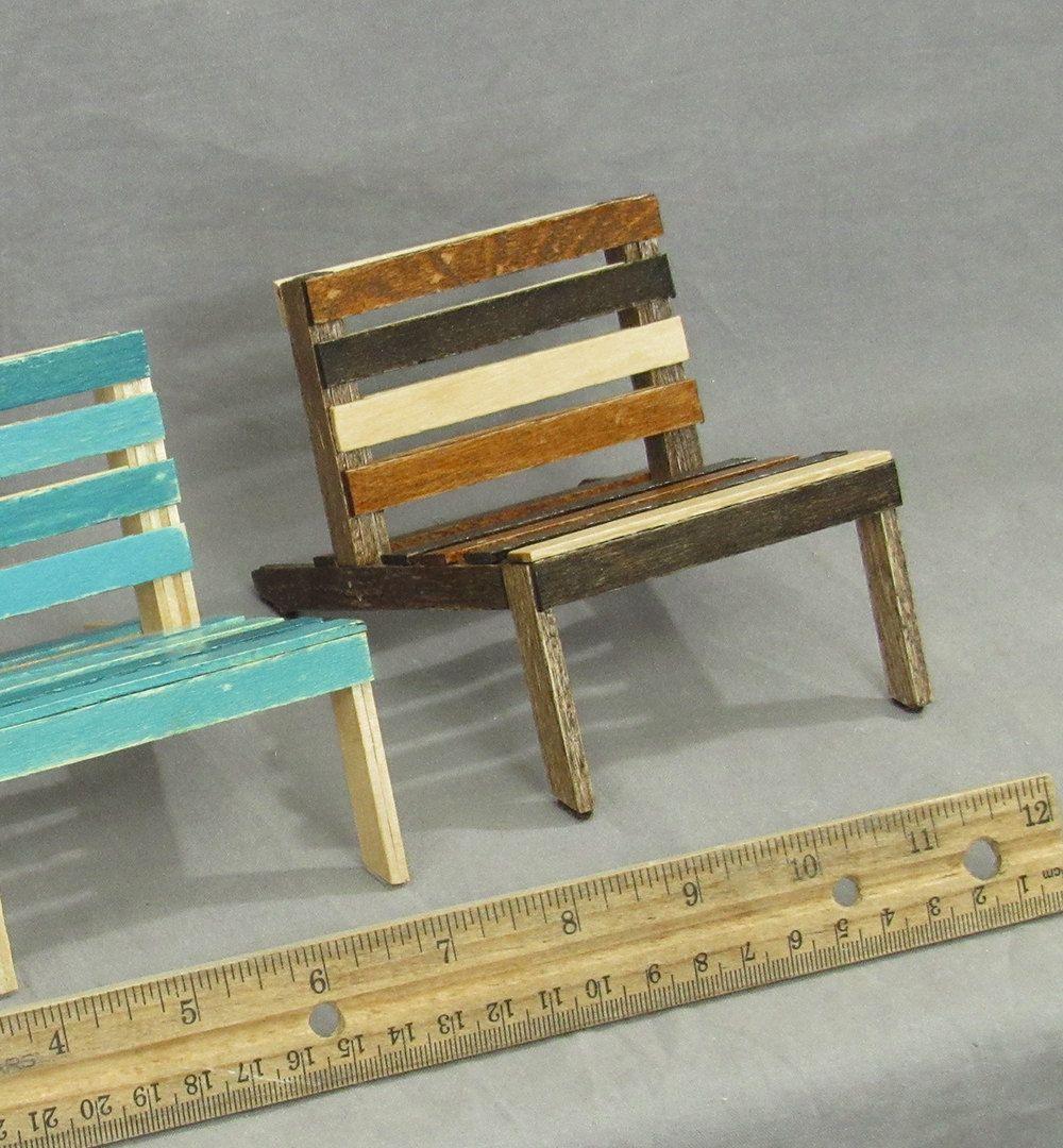 Wooden cell phone holder, mini pallet chair, phone stand, popsicle ...