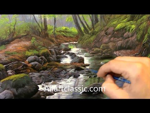 Painting Water, River in a Landscape - YouTube