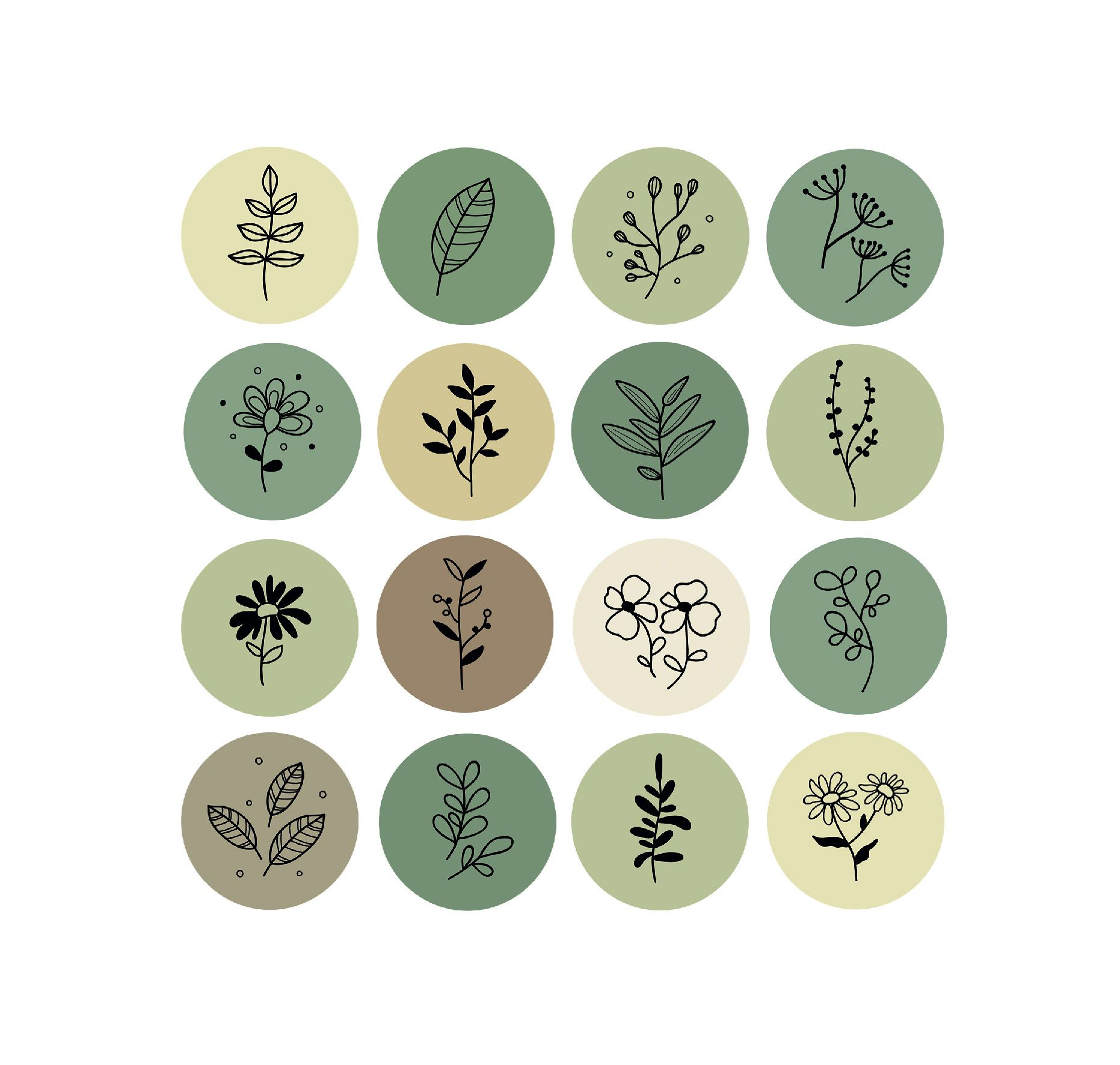 Free Plants Icons Template