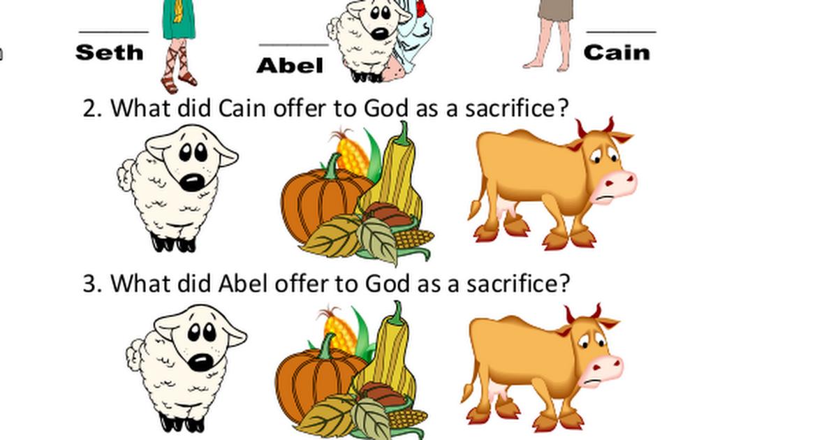 3 Cain Amp Abel Worksheet Pdf Sunday School Lessons For