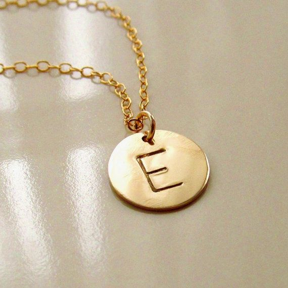 Initial disc necklace personalized necklace gold initial disc gold initial necklace hand stamped gold disc gold by pamelacurran 3800 mozeypictures Choice Image