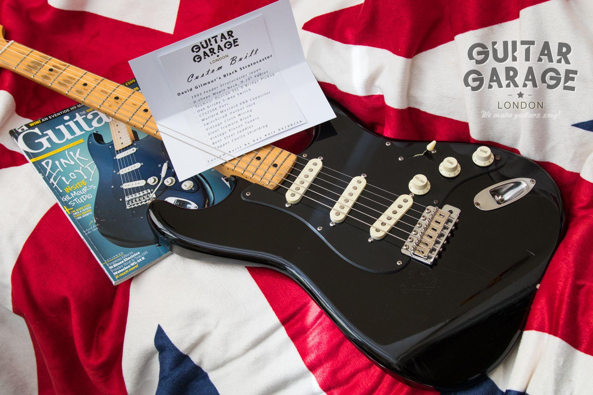 David Gilmour Black Strat Bridge Pickup Wiring Trusted Diagrams Emg Diagram Guitar Garage London Custom Built Dave Gilmours Based Stratocaster