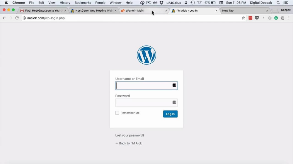 Lesson 5 How to Install WordPress from cPanel Digital