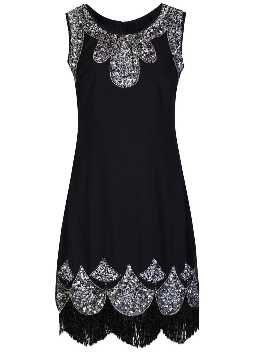 Black dress jcpenney - Vijiv Women S 1920s Vintage Embellished Sequin Beaded Flapper Evening Dress At Amazon Women S Clothing Store