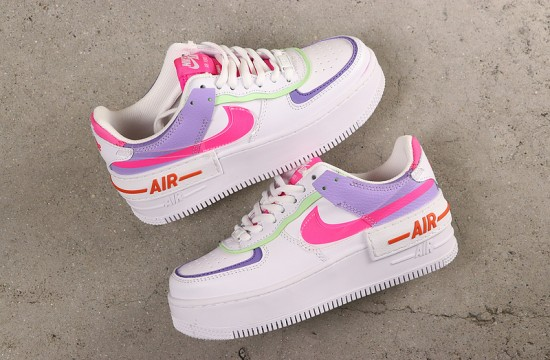 Nike Air Force 1 Double Layering Shadow White Pink Purple Nike Air Shoes Nike Shoes Air Force Custom Nike Shoes The nike air force 1 shadow continues to expand on color options available. nike air force 1 double layering shadow