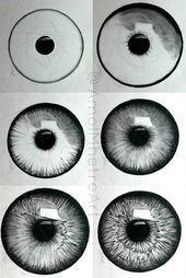 20 erstaunliche Ideen für das Augenzeichnen und Inspiration – helleres Handwe..., #Augenzeic...