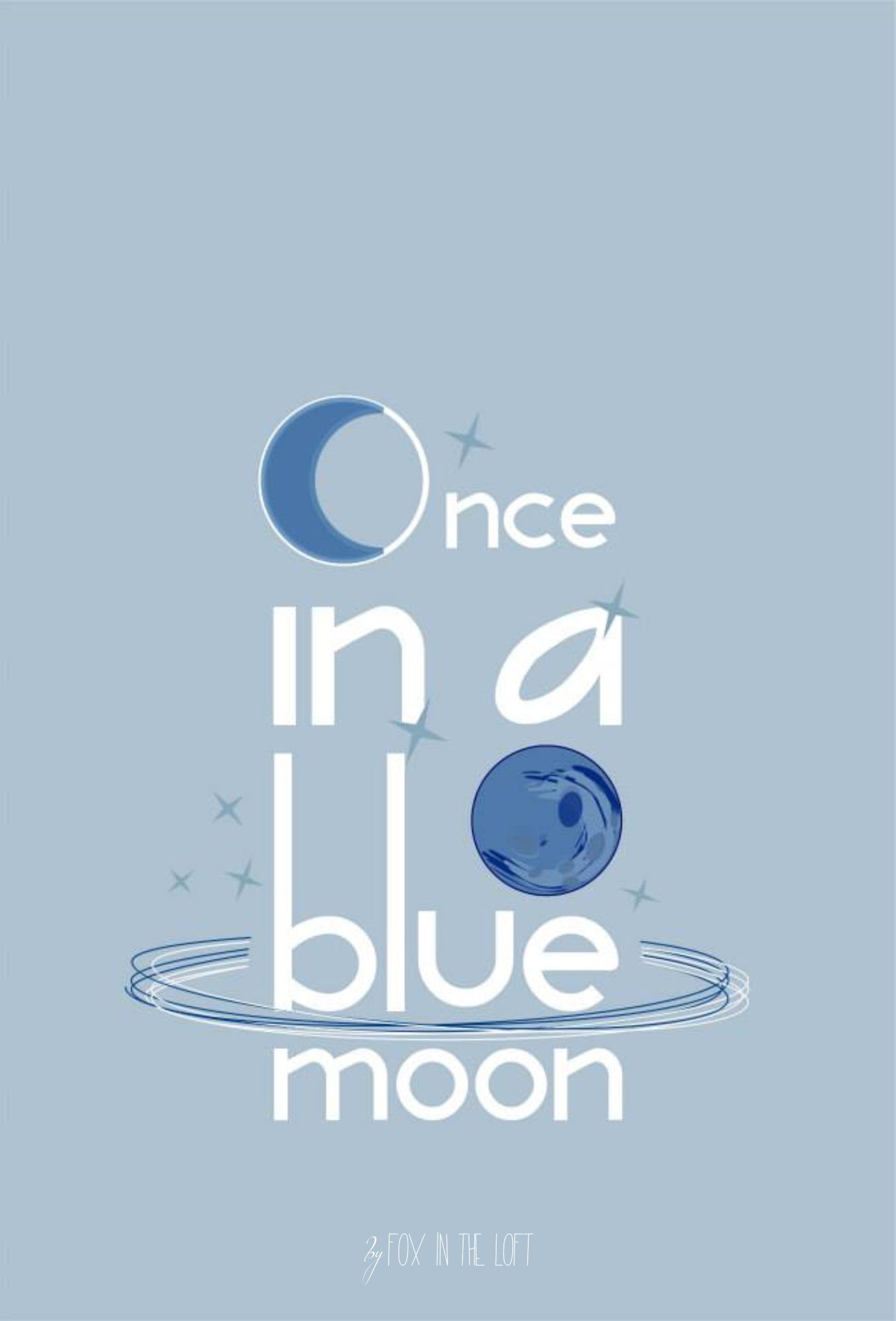 English Phrases And Idioms Once In A Blue Moon Typography