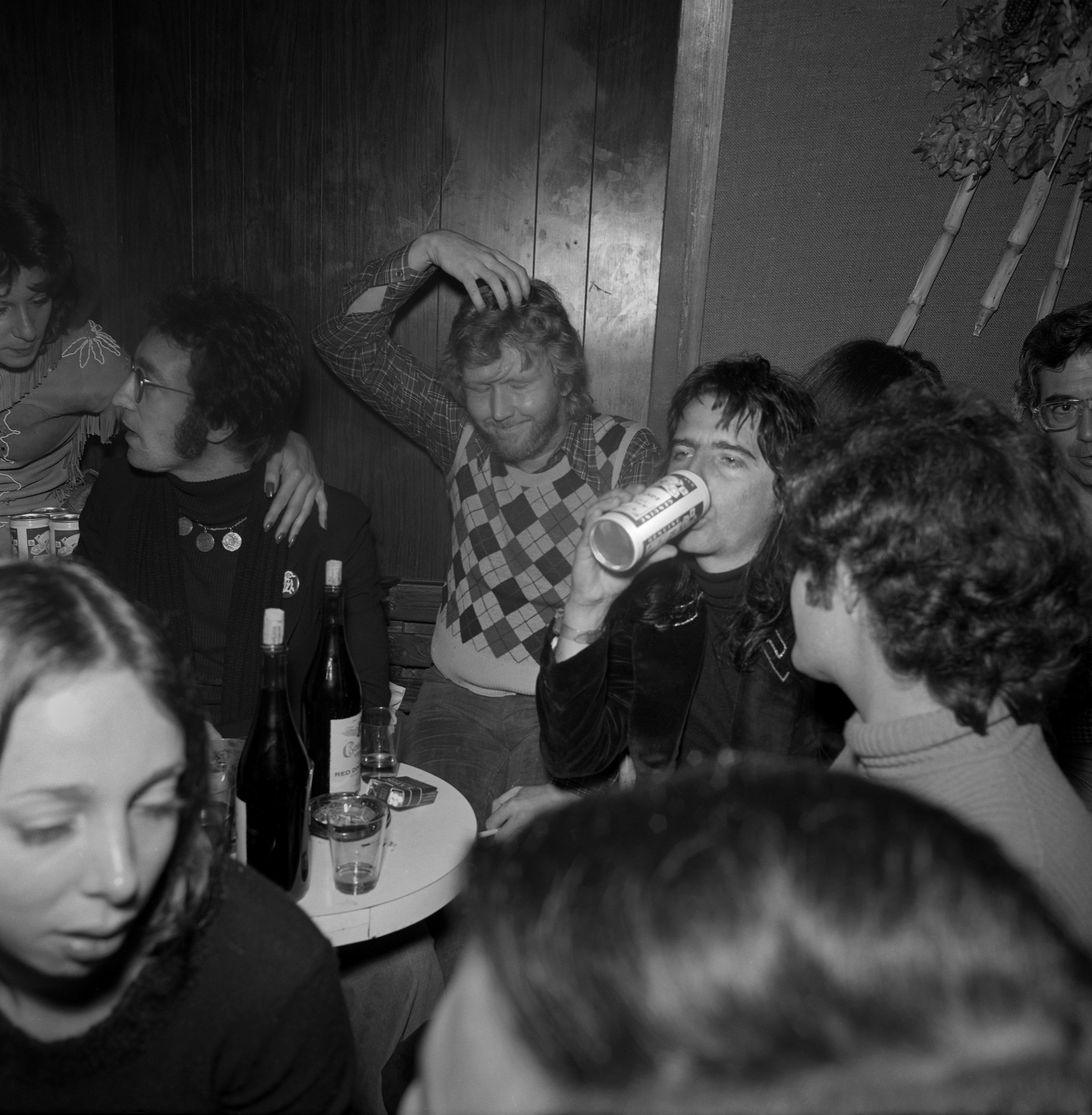John Lennon, Harry Nilsson, Alice Cooper, and Micky Dolenz