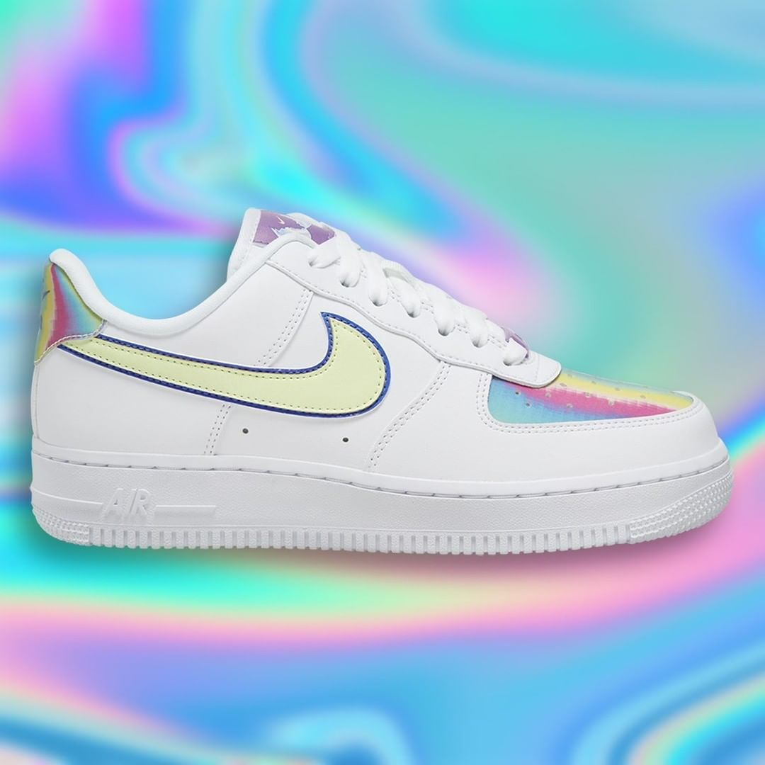 Sneaker News On Instagram The Annual Tradition Continues As Nike Adds Iridescent Toe Boxes And Heel Tabs For The Upcoming A Nike Air Force Nike Air Air Force