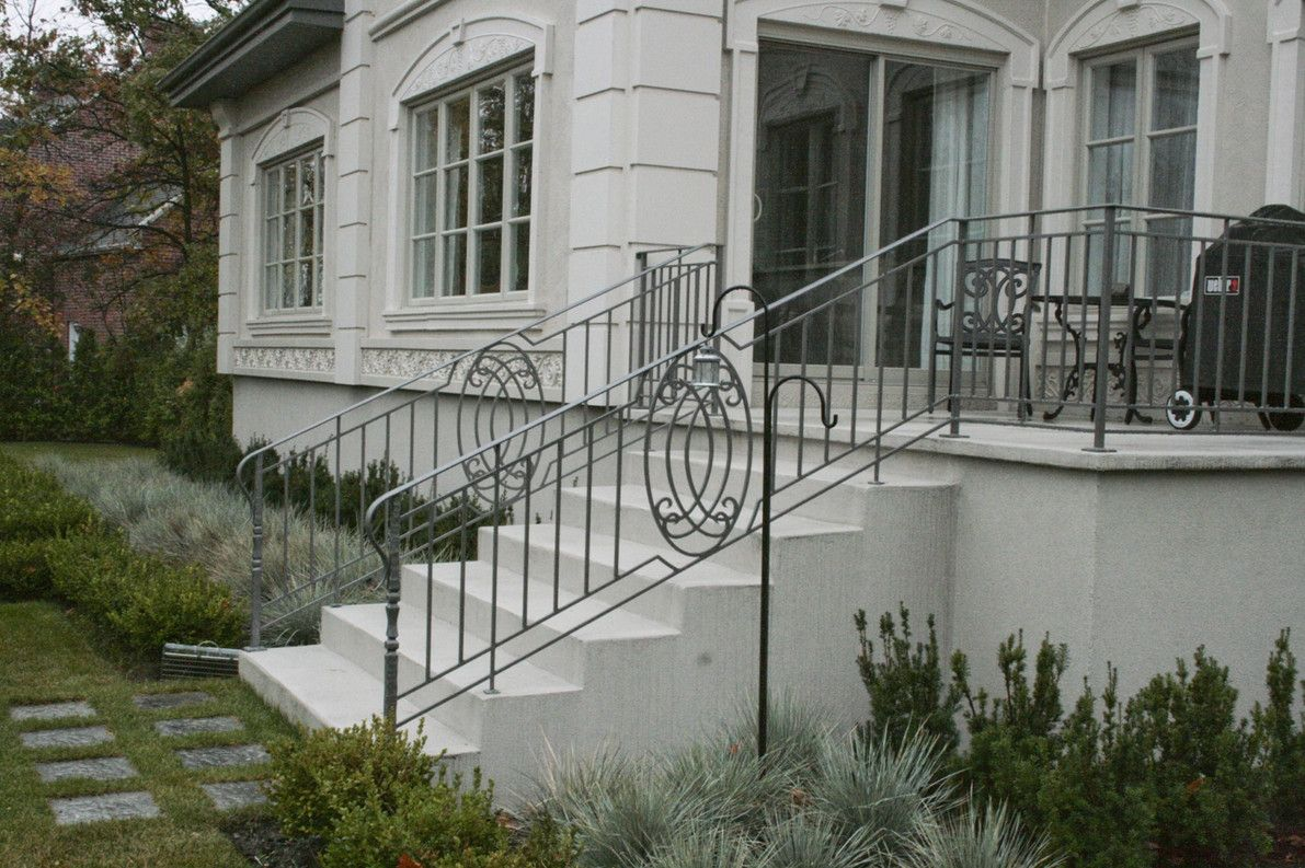 Exterior Wrought Iron Stair Railing   Wrought Iron Stair Railing Should  Complement The Existing Style In