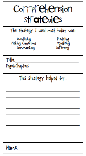12+ Reading comprehension strategies worksheets Images