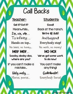Using Call Backs After Spring Break (FREEBIE!)