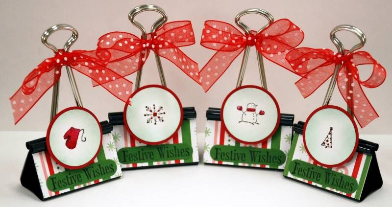 Christmas placecard picture holders by ParisEstates CRAFTS