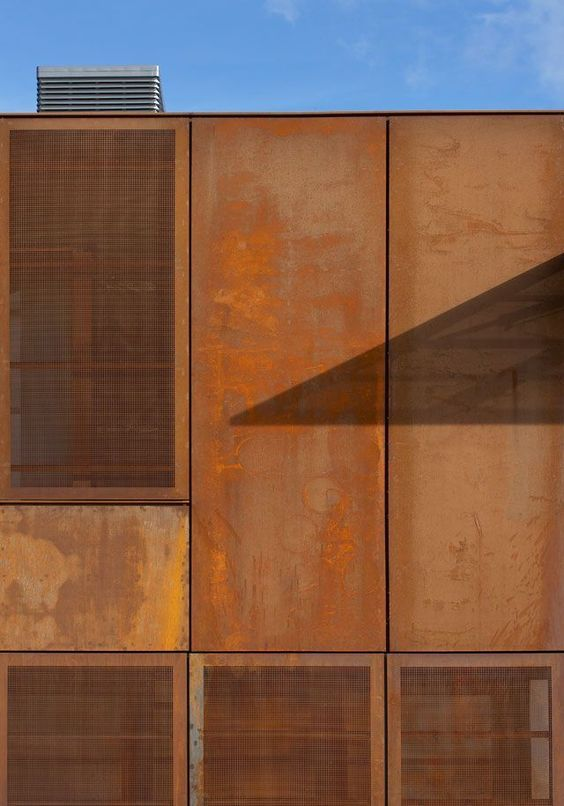 corten steel sheets textures pinterest bardage m tallique acier corten et bardage. Black Bedroom Furniture Sets. Home Design Ideas