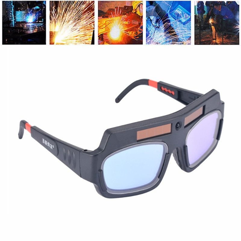 Solar Powered Auto Darkening Welding Mask Helmet Goggle Welder Glasses Arc PC Lens Goggles Welding Protection