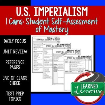 Imperialism I Cans Student Self Assessment Mastery American