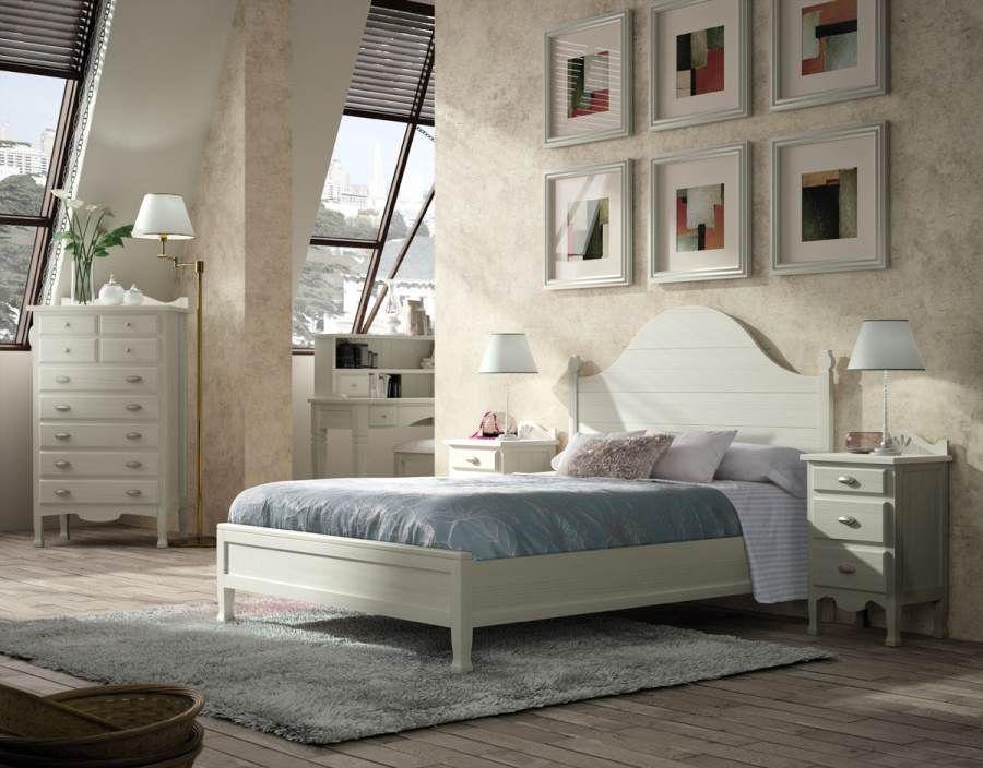 Dormitorio matrimonio decco blanco tosca lacado dormitorios for Decoracion de habitaciones de matrimonio en blanco