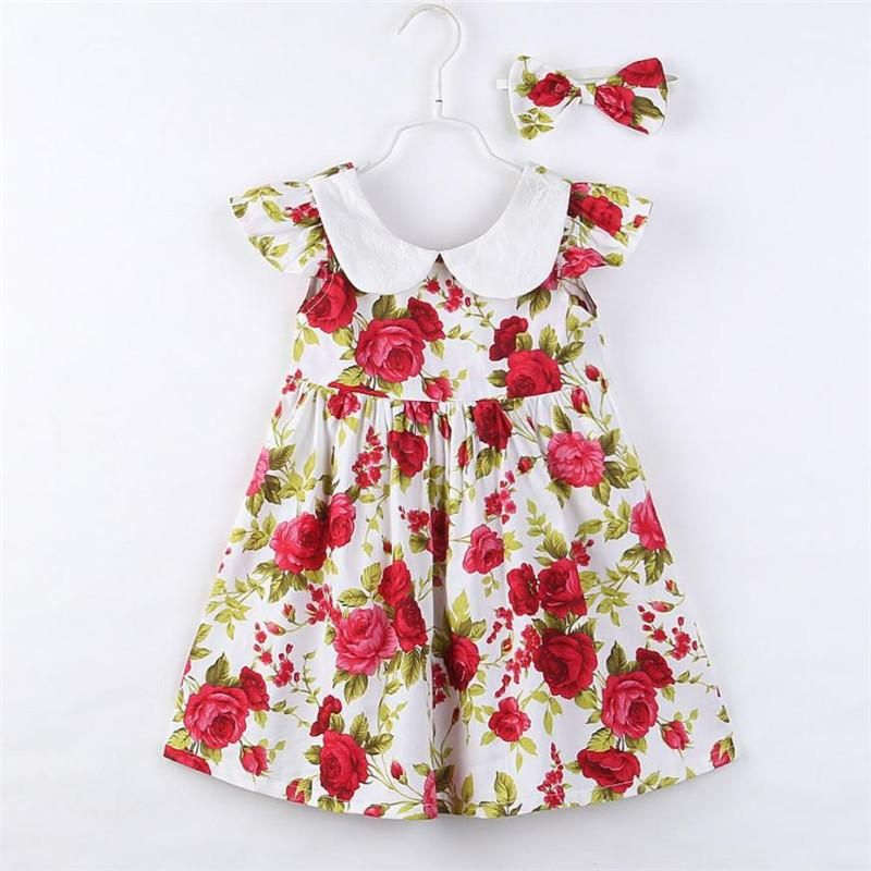 Little Toddler Girl Baby Summer Sleeveless Ruffle Lace Floral Overall Dress