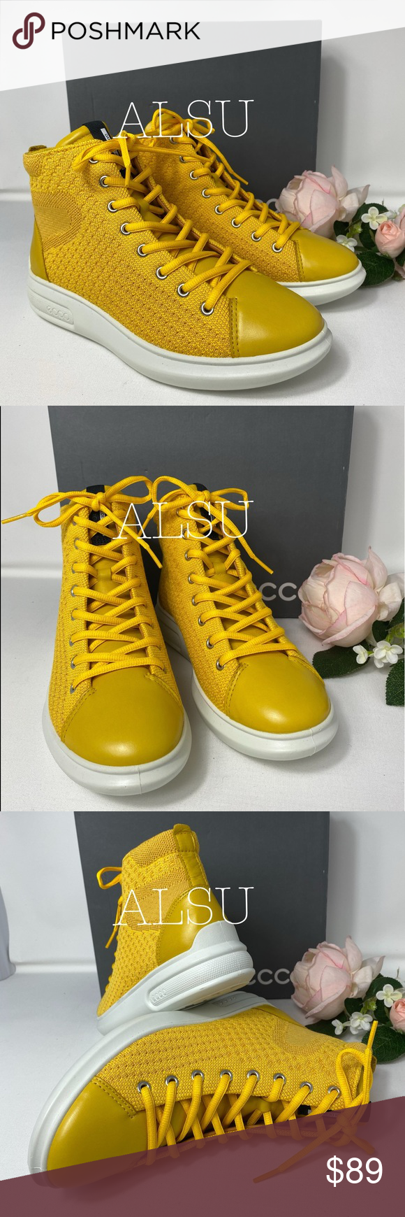 ECCO Soft 3 Canvas High Top Melon 🍈 Yellow W Brand new with box. Price is firm! No trades. 100% Leather/textile Synthetic sole Removable Insole  Th...,#Brand #canvas #leather #melon #price #Trades #yellow