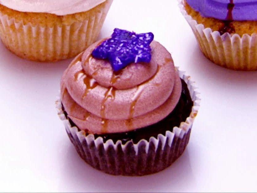 Vegan Chocolate Ganache Cupcakes with Salted Caramel and Dark Chocolate Buttercream