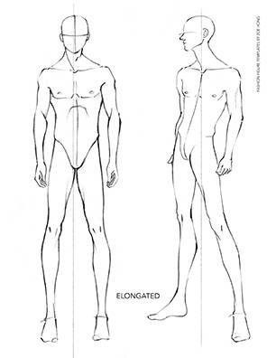Male FASHION FIGURE TEMPLATES