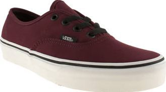 6a3cb8d89dee5e Vans Burgundy Authentic Vi Womens Trainers Burgundy is the new black. Schuh  fans have made their choice and Vans have delivered with this updated  Authentic.