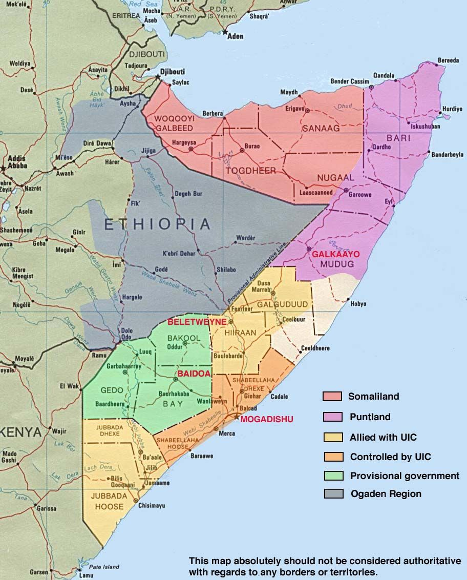Somalia Map With Regions P 304 Map Somalia Country Maps