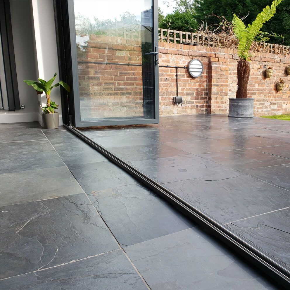 Natural Black Slate Tiles 600x600mm Outdoor Stone Outdoor Tiles Outdoor Tiles Floor