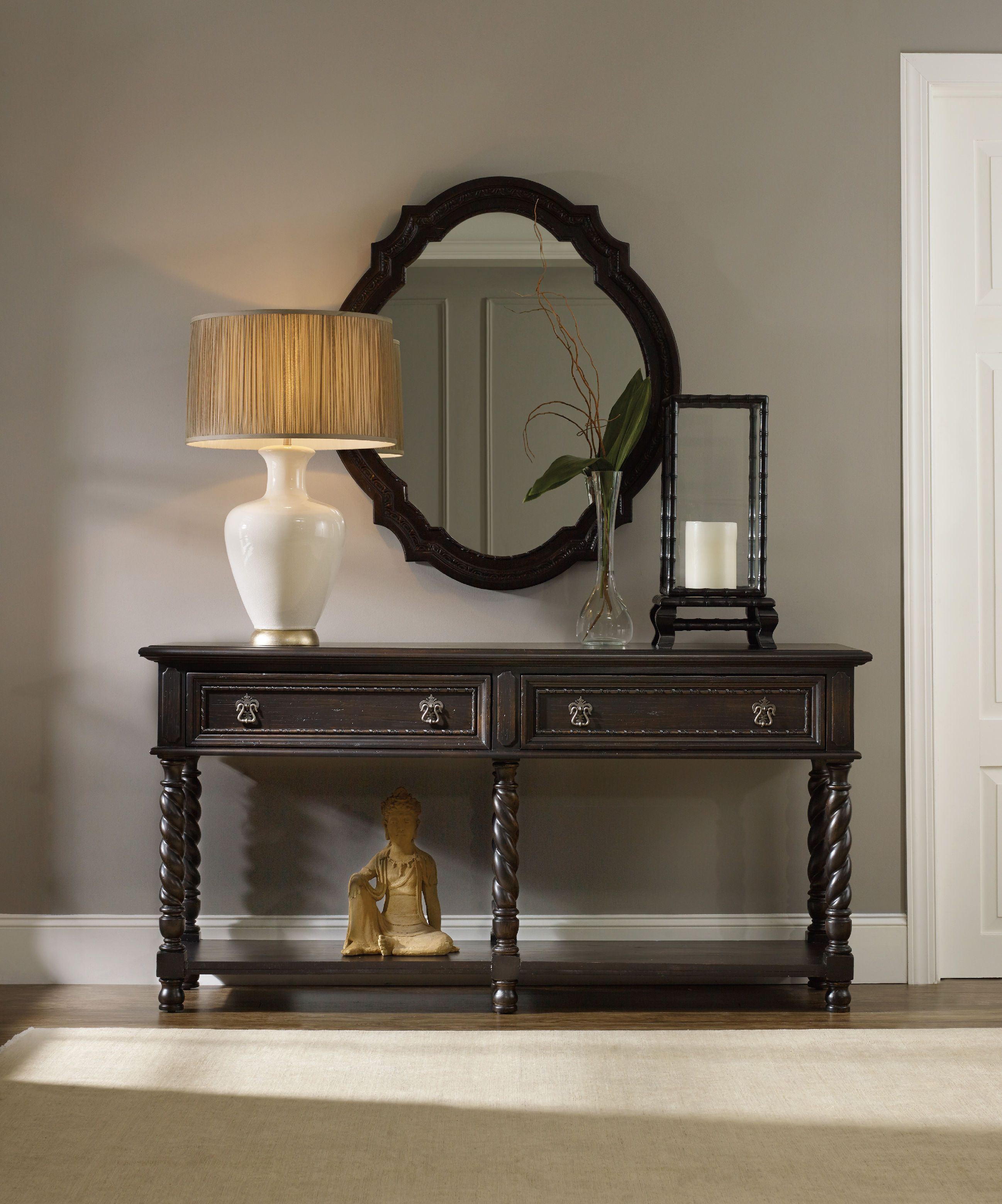 viyet style cherry brazilian black classy the traditional room small sofa table brown living ashley tables console with home drawers storage furniture porter