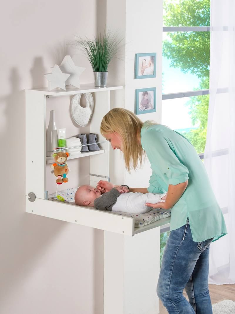 Table langer murale blanche wicki geuther pas cher - Table a langer murale autour de bebe ...