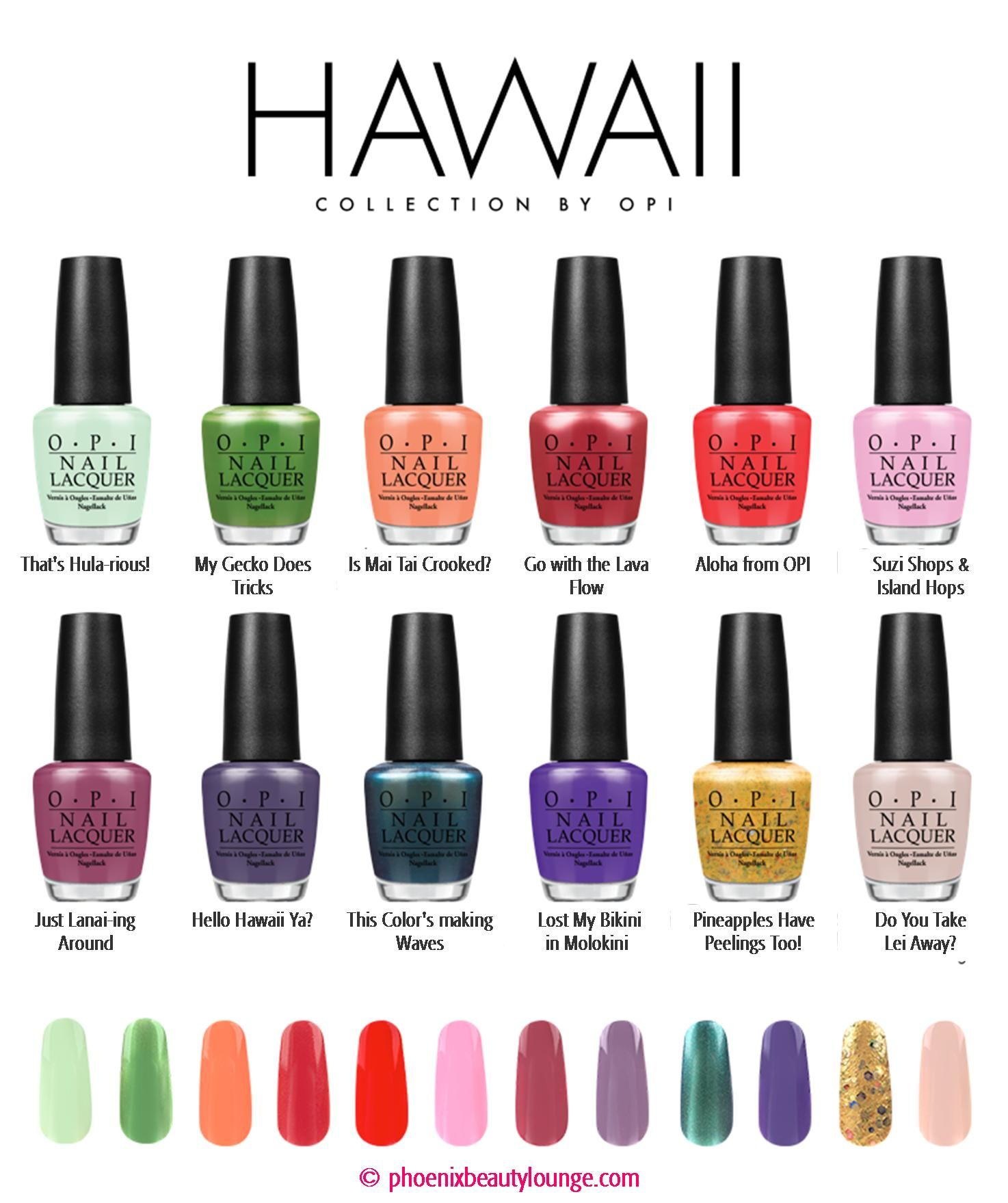 Nail Polish Colors Spring 2018 Opi: OPI Hawaii Collection - Spring Summer 2015
