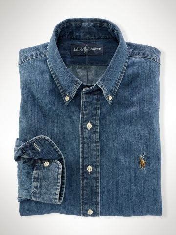 a2e3a4a7df Custom-Fit Denim Shirt - Polo Ralph Lauren Custom-Fit - RalphLauren ...