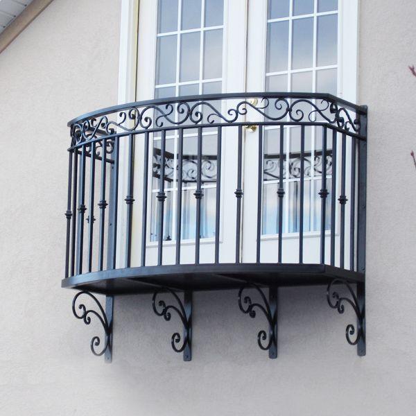 custom built wrought iron steel balconies  juliette