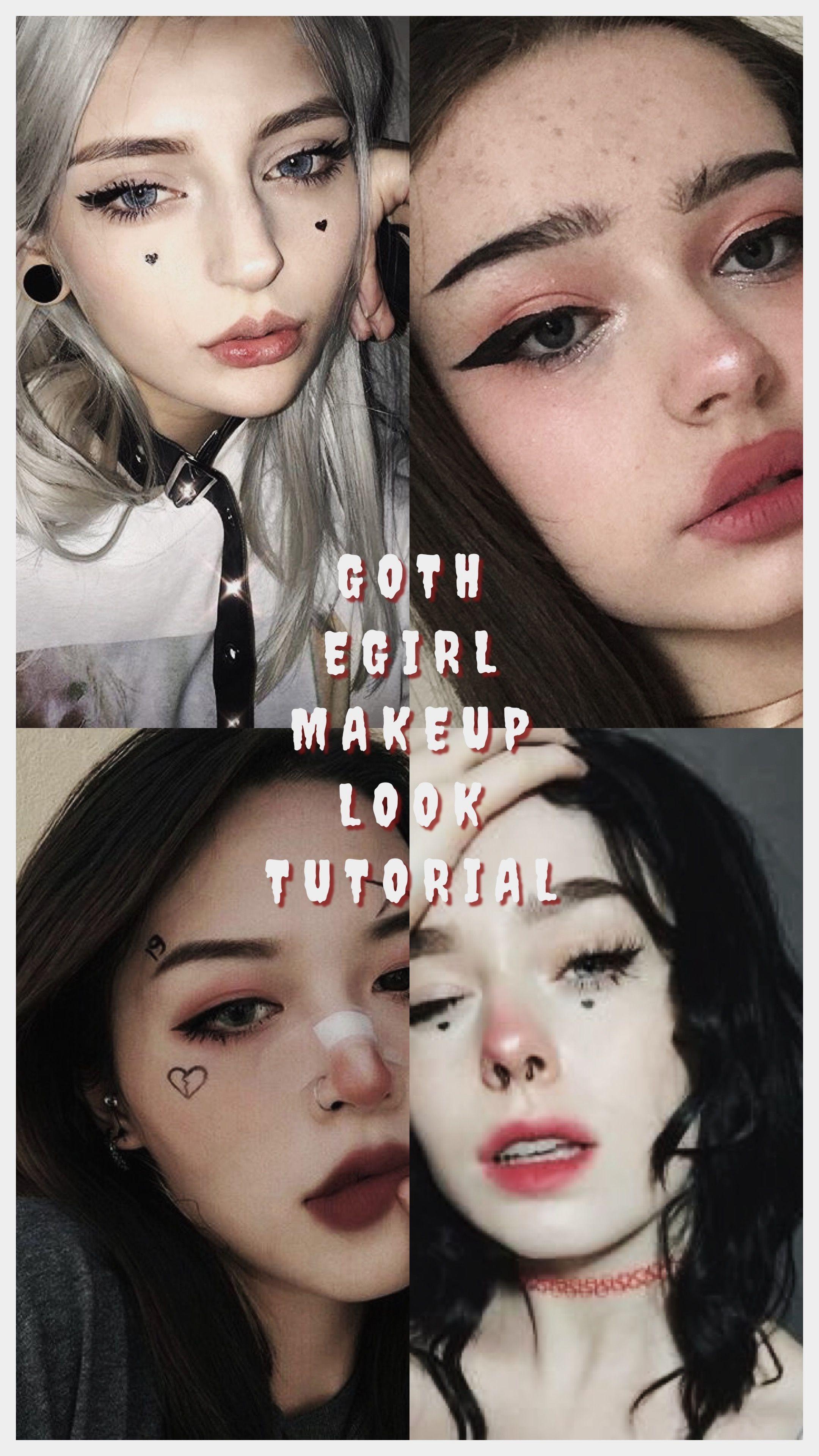 Egirl Makeup In 2020 Edgy Makeup Goth Makeup Carnival Makeup