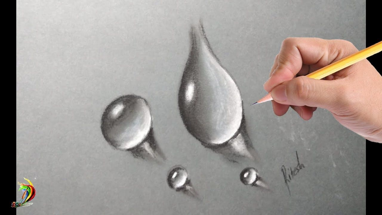 How to draw realistic water drops Hyper realistic water