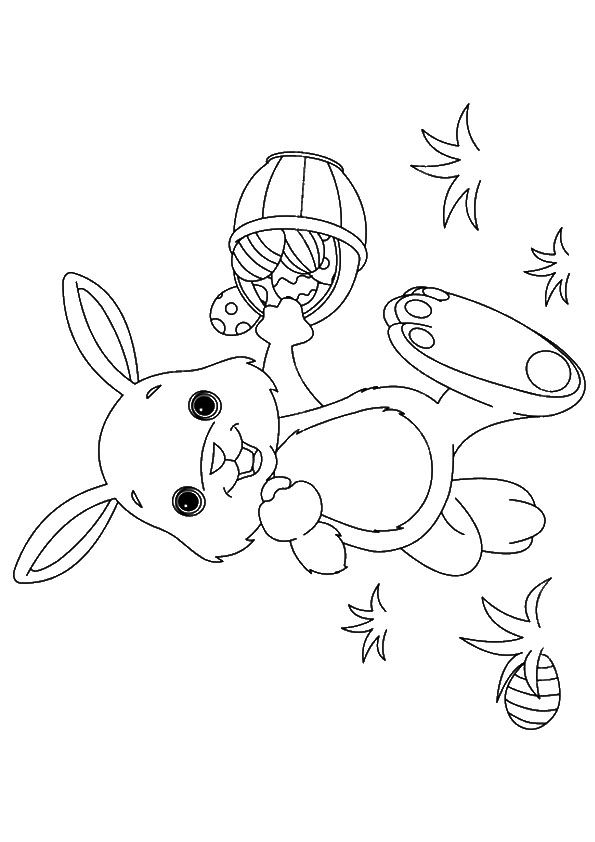 Top 15 Free Printable Easter Bunny Coloring Pages Online With