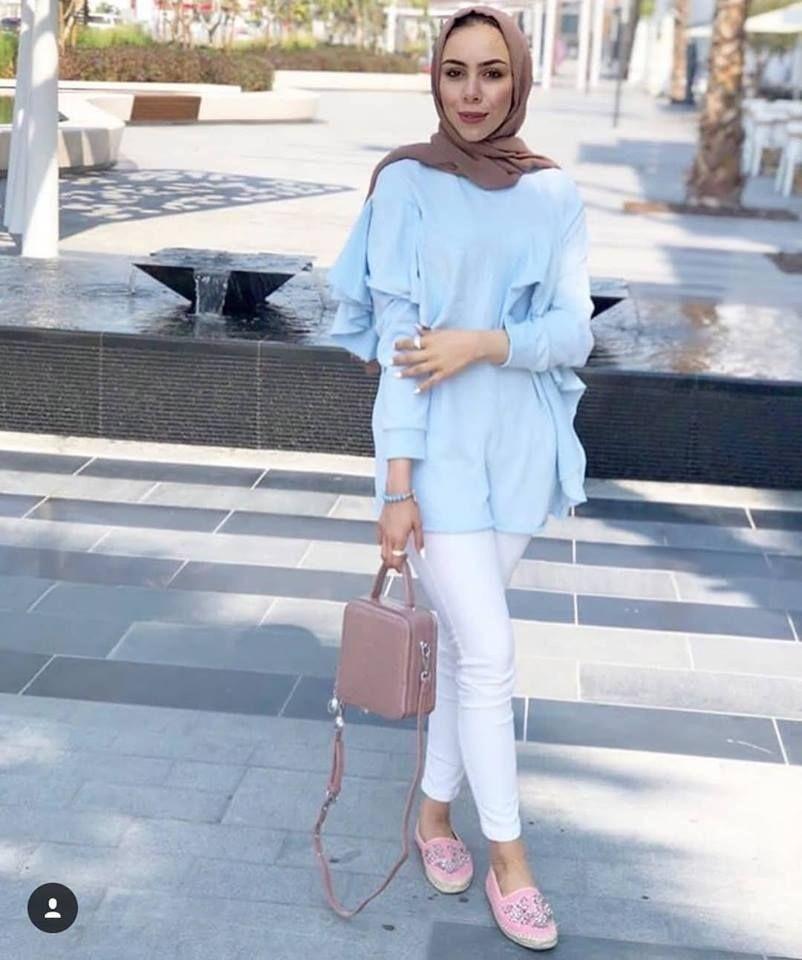 How To Style Light Blue Hijab Outfits Hijabi Outfits Casual Fashion Hijab Outfit