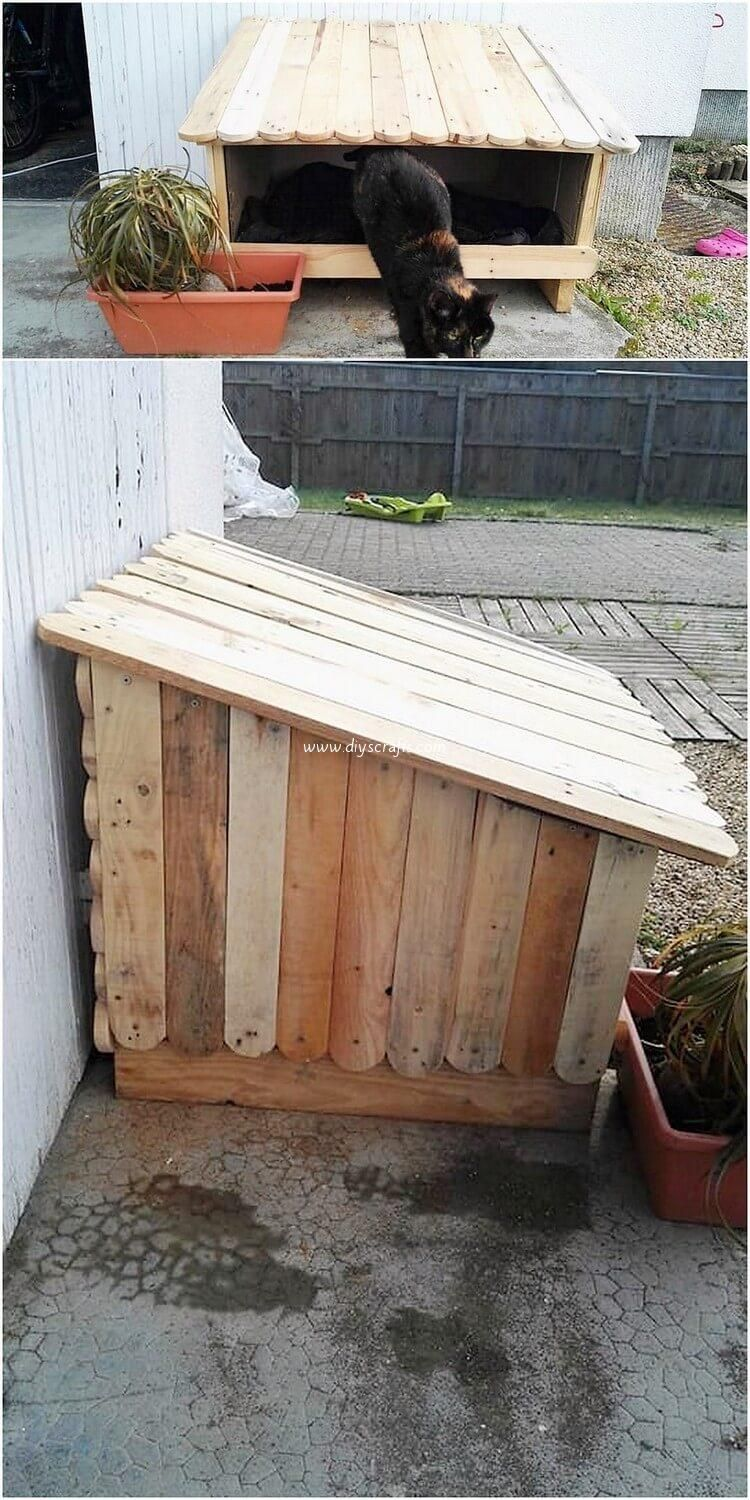 Newest DIY Wood Pallet Projects and Ideas   Cat house diy ...