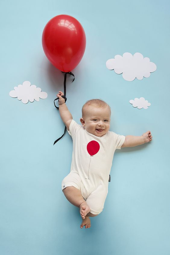 You Can Increase The Balloons By Counting Each Month For First Birthday Cover Baby