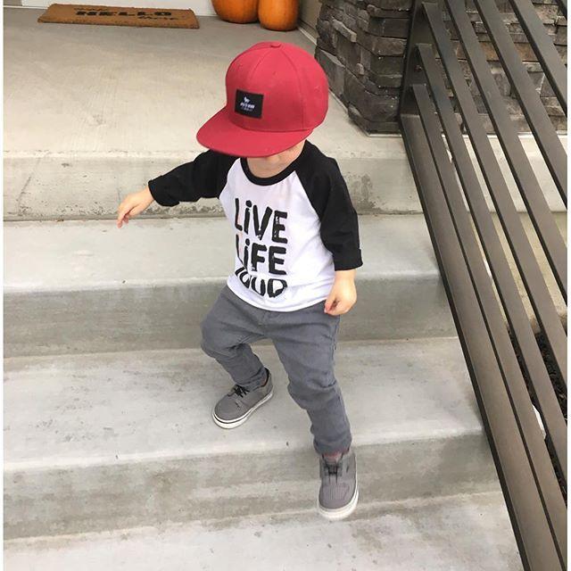 96038e0ab Jack & Winn toddler snapback hat and a QT&Co. raglan tee. | Babies ...