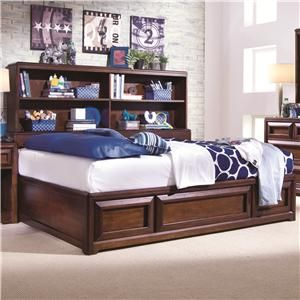 Lea Industries Elite   Expressions Twin Bookcase Storage Bed   856 900+923