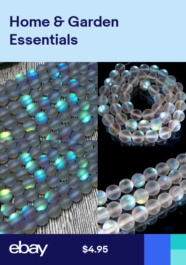 "NEW 6-12MM Gray Gleamy Rainbow Moonstone Round Gems Beads LOOSE BEADS 15/"""