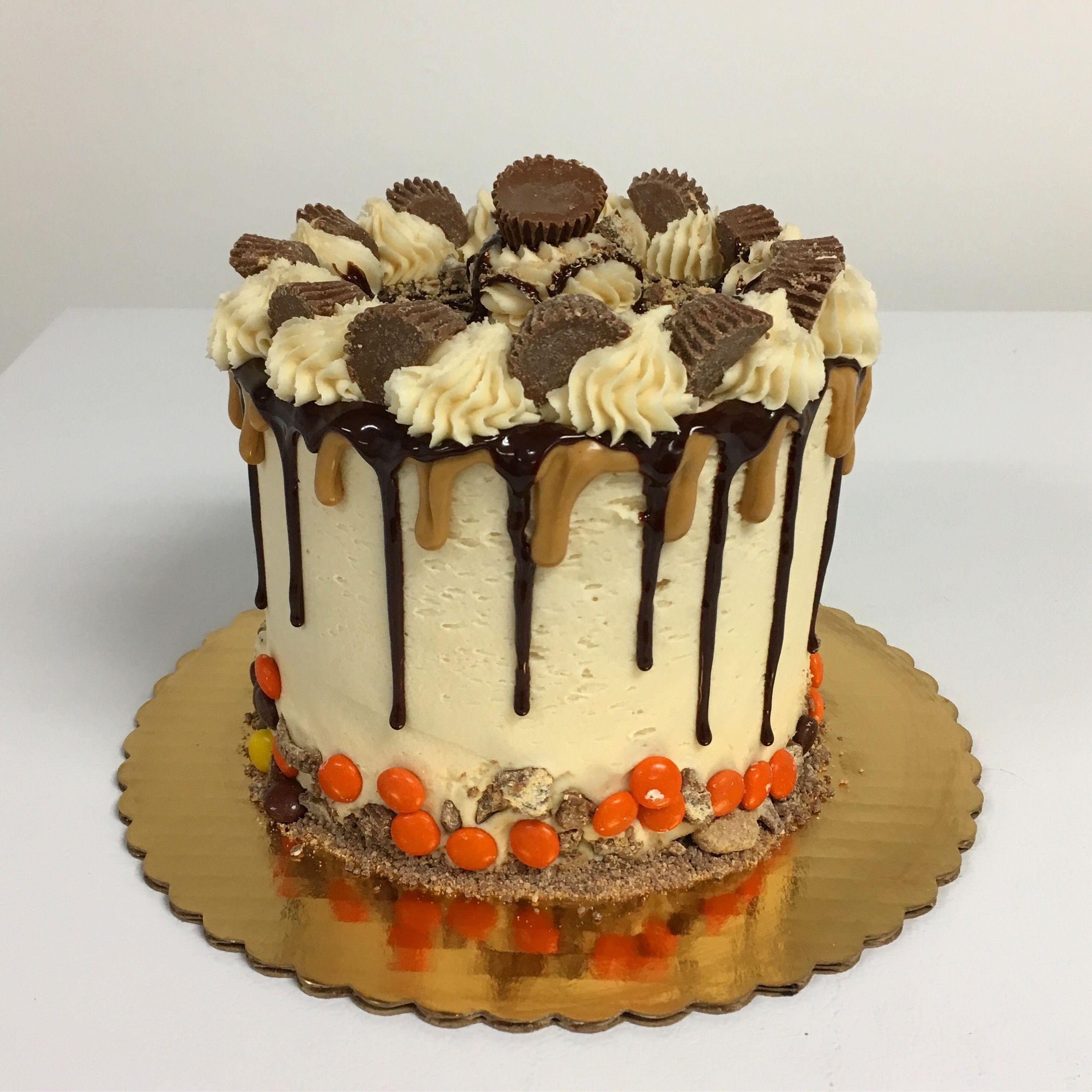 Reesie Peanut Butter Cup Drip Cake