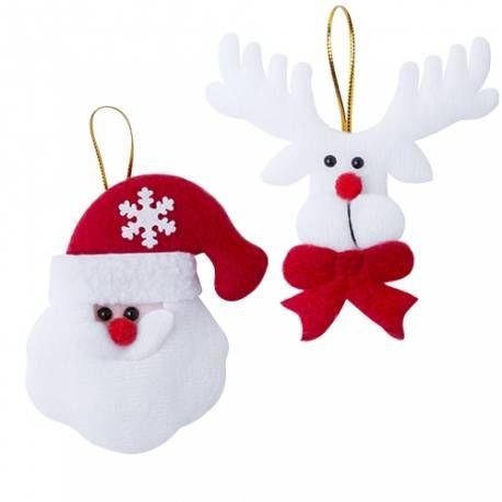 Muñecos para árbol de Navidad   Adornos de papá noel, El arbol de ...