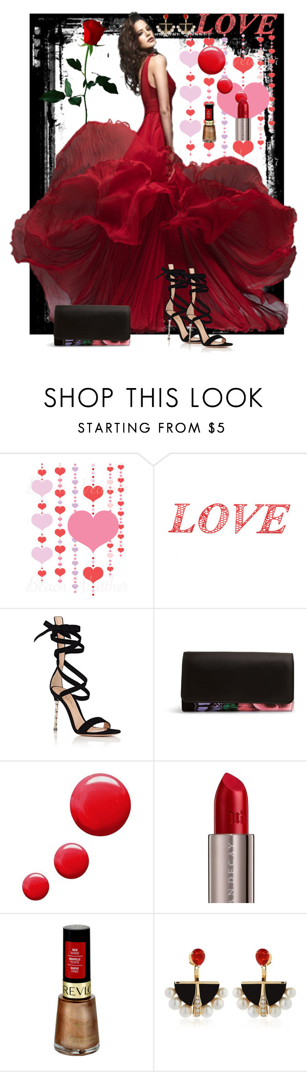 """Love"" by lkriss ❤ liked on Polyvore featuring WALL, Gianvito Rossi, Vera Bradley, Topshop, Urban Decay, Revlon, Lalique, DateNight, love and valentinesday"