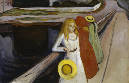 The Girls on the Bridge   Edvard Munch