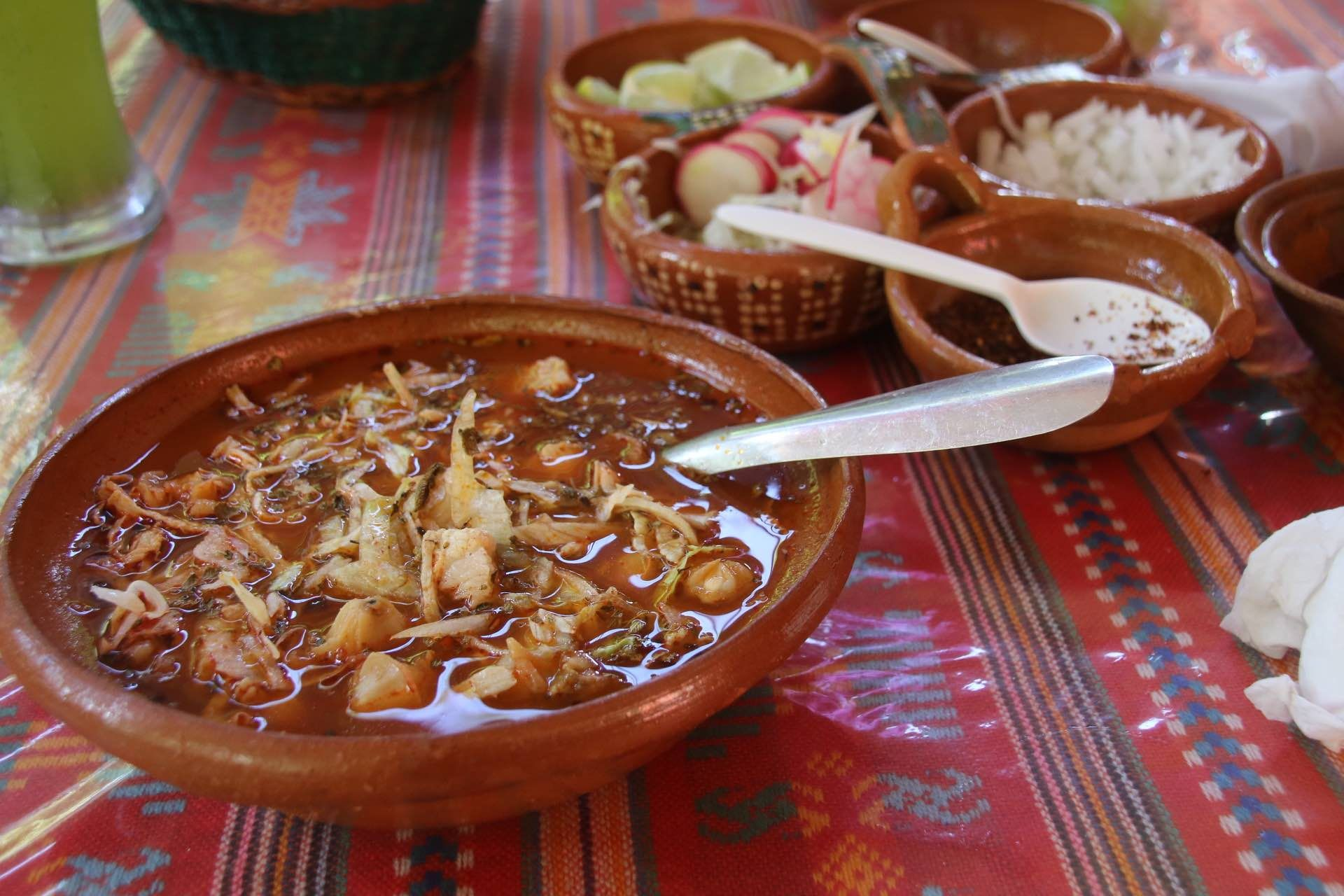 "Delicious Pozole in ""La Mexicanita"" Tulum  intersection of Osiris Norte and the unmarked avenue south of Kukulkan Norte - closed monday. Thursday we make mole de olla. 8 - 8 p.m."