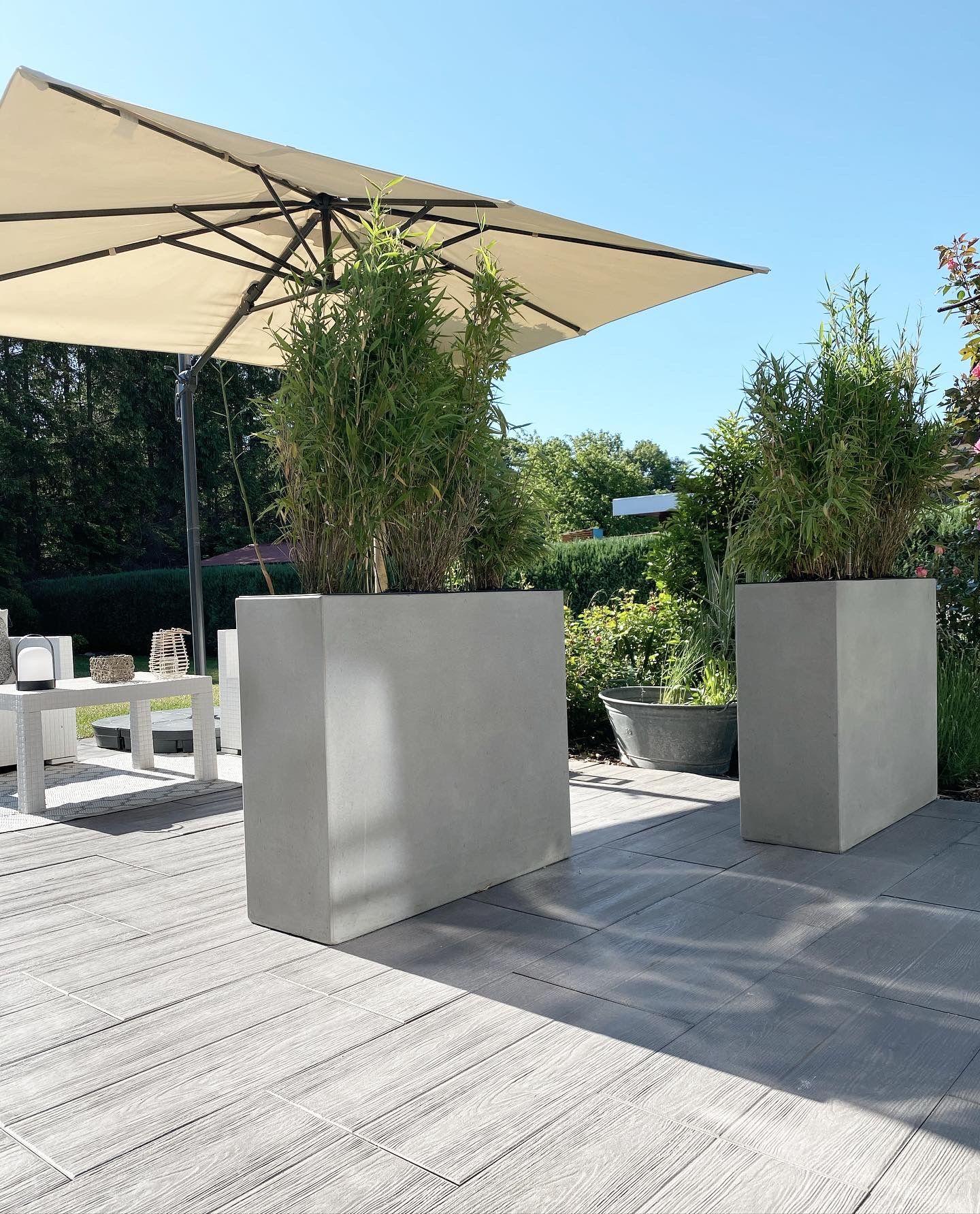 4er Set Pflanzkubel Raumteiler Beton Elemento Natur Pflanzen Pflanzkubel Gartengestaltung Ideen