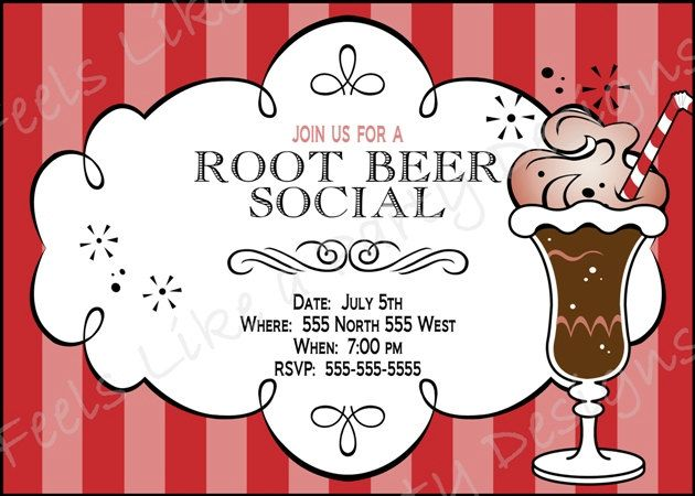 custom root beer float party invite   12 00  via etsy